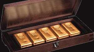 Barras de ouro investimento